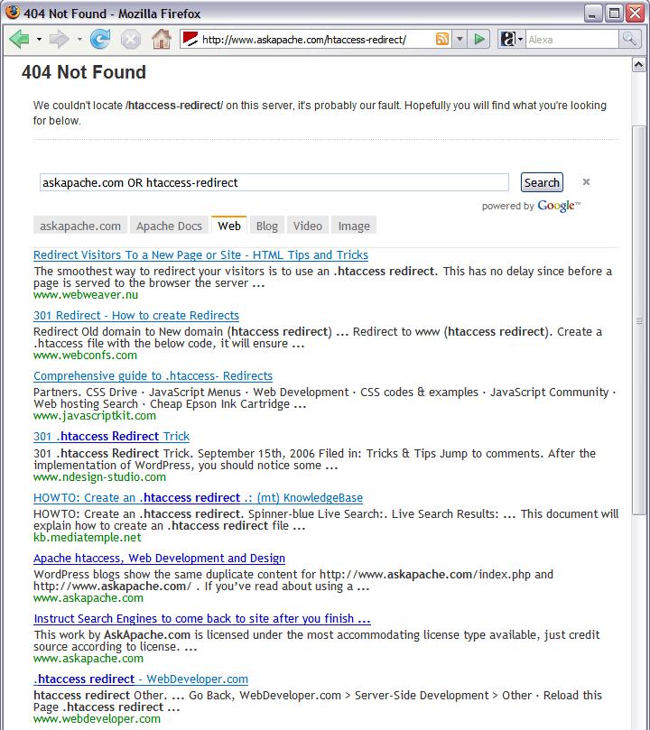 WordPress 404 Plugin with Google Search and SEO