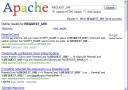 Apache Search Results Screen Shot