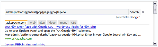 AskApache Google 404 Powered By Google Ajax API