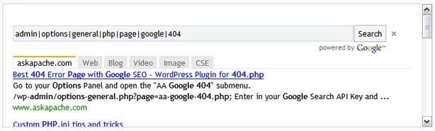 AskApache Google 404 Powered By Google Ajax API