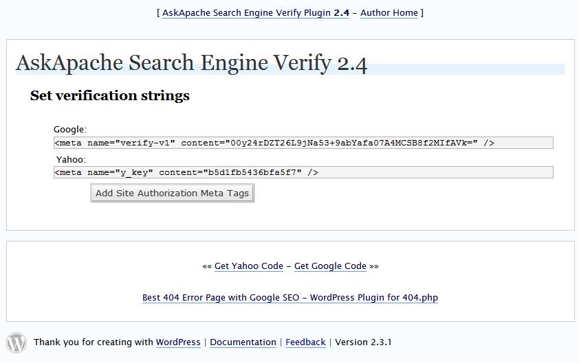 search verification