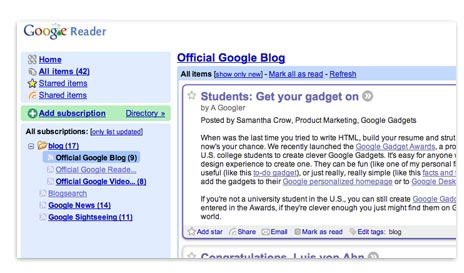 Google Reader Tour