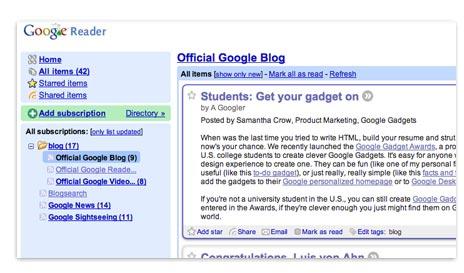Google Reader Tour