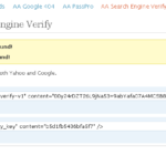 Wordpress SEO Plugin Search Engine Verification