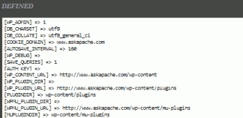 AskApache Debug Viewer Plugin for WordPress
