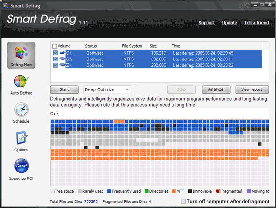 how to clean computer defragment