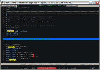 Editing an Apache .htaccess file in VIM.