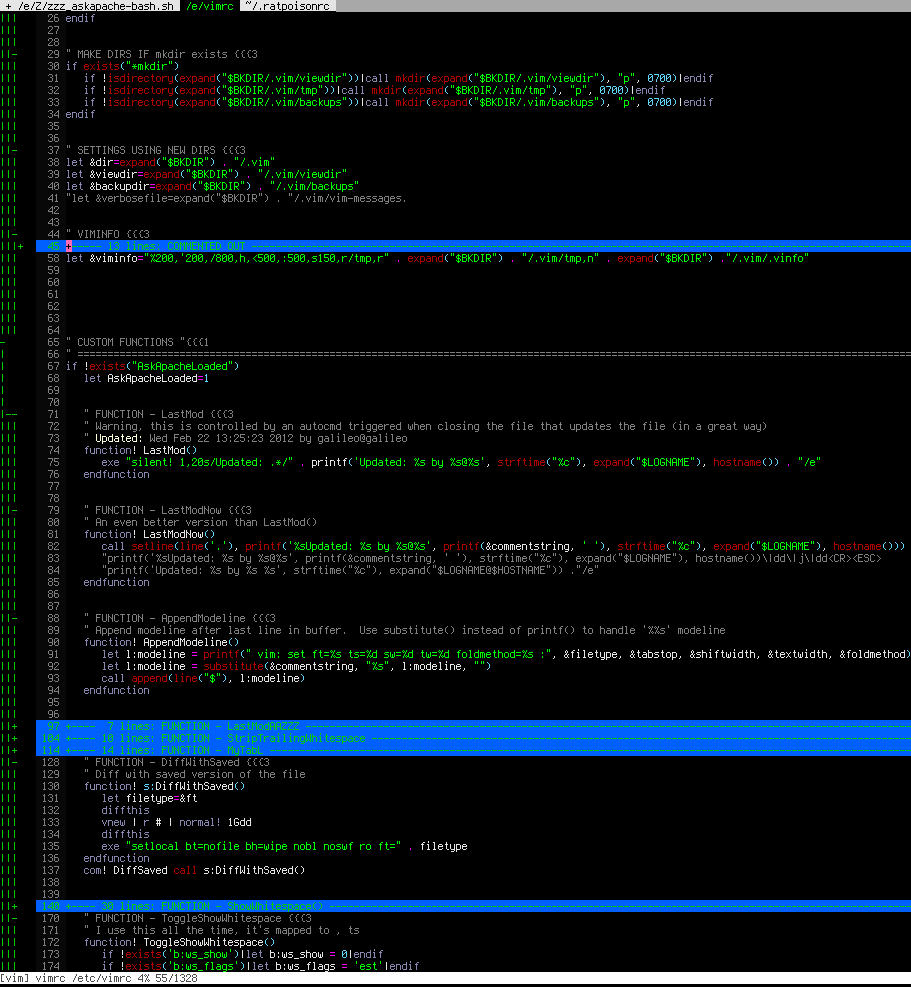 Better colors so comments aren't dark blue in vim? Unix & linux.