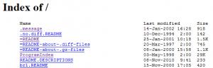 bash-generated-index-listing