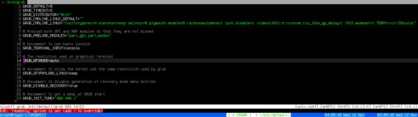 grub awesome boot screenshot