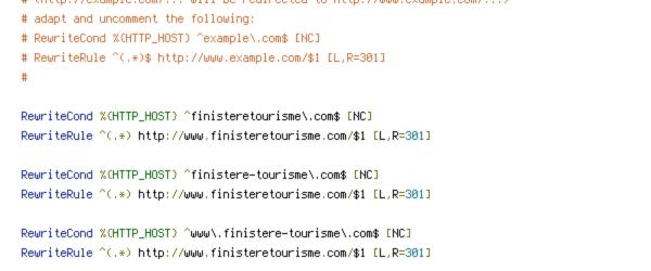 HTTP_HOST, REQUEST_FILENAME, REQUEST_URI