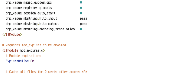 HTTP_HOST, REQUEST_FILENAME, REQUEST_URI, TZ
