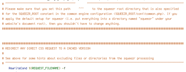 CACHE, DEFLATE, ENV, HTTP_COOKIE, QUERY_STRING, REDIRECT_BREAKPOINT, REQUEST_FILENAME, REQUEST_URI