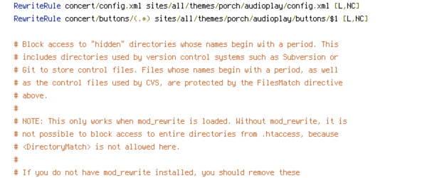 HTTP_HOST, HTTPS, no-gzip, REQUEST_FILENAME, REQUEST_URI