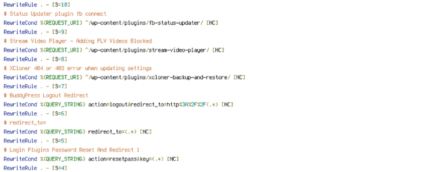 CACHE, HANDLER, HTTP_REFERER, HTTP_USER_AGENT, INCLUDES, QUERY_STRING, REQUEST_FILENAME, REQUEST_METHOD, REQUEST_URI, THE_REQUEST
