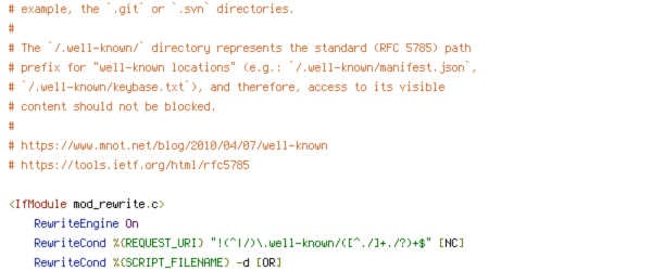 DEFLATE, DOCUMENT_ROOT, ENV, HTTP_HOST, HTTPS, INCLUDES, ORIGIN, PROTO, REQUEST_FILENAME, REQUEST_URI, SCRIPT_FILENAME, SERVER_ADDR, SERVER_NAME, TIME