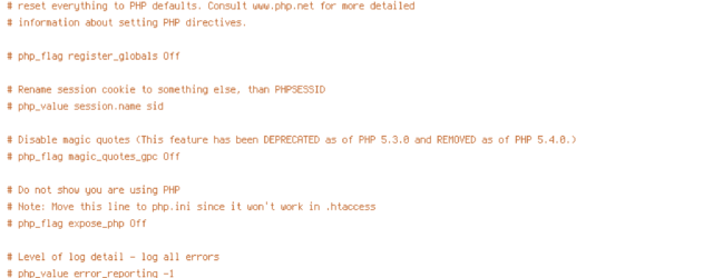 DEFLATE, force-no-vary, HTTP_HOST, HTTPS, INCLUDES, QUERY_STRING, REQUEST_FILENAME, REQUEST_URI, SCRIPT_FILENAME, SERVER_PORT, static, TIME