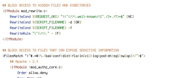 DEFLATE, HTTP_HOST, HTTP_REFERER, HTTPS, ORIGIN, REQUEST_FILENAME, REQUEST_URI, SCRIPT_FILENAME