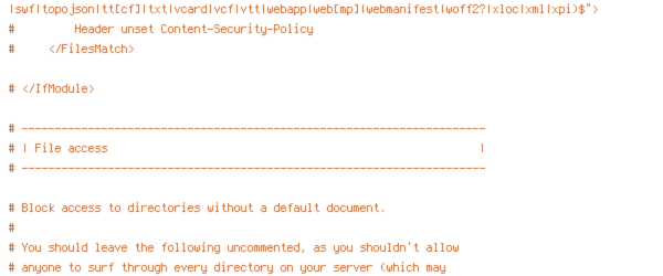 DEFLATE, ENV, HTTP_HOST, HTTPS, INCLUDES, ORIGIN, PROTO, REQUEST_FILENAME, REQUEST_URI, SCRIPT_FILENAME, SERVER_ADDR, TIME