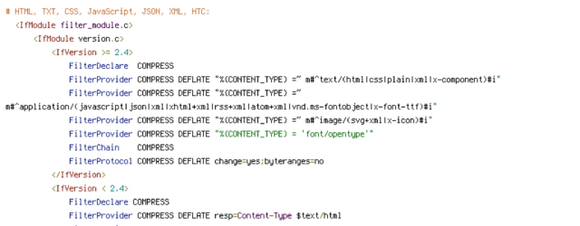 CONTENT_TYPE, DEFLATE, force-no-vary, HTTP_HOST, HTTPS, INCLUDES, REQUEST_FILENAME, REQUEST_URI, SCRIPT_FILENAME, SERVER_PORT, static, TIME
