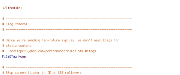 DEFLATE, DOCUMENT_ROOT, force-no-vary, HTTP_HOST, HTTPS, INCLUDES, REQUEST_FILENAME, REQUEST_URI, SERVER_PORT, static, TIME