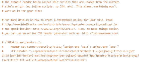 HTTP_HOST, HTTPS, INCLUDES, ORIGIN, REQUEST_FILENAME, REQUEST_URI, SCRIPT_FILENAME, SERVER_ADDR, SERVER_PORT, TIME