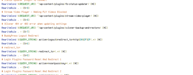 HANDLER, HTTP_HOST, HTTP_REFERER, HTTP_USER_AGENT, INCLUDES, QUERY_STRING, REQUEST_FILENAME, REQUEST_METHOD, REQUEST_URI, THE_REQUEST